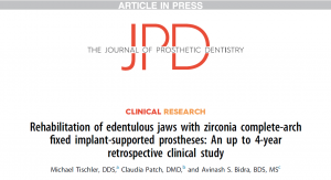 Read news release: Groundbreaking Study of Teeth Tomorrow Bridges published by Journal of Prosthetic Dentistry