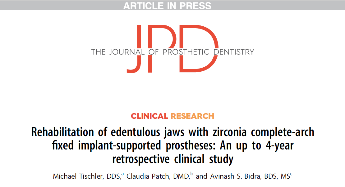 Groundbreaking Study of Teeth Tomorrow Bridges published by Journal of Prosthetic Dentistry